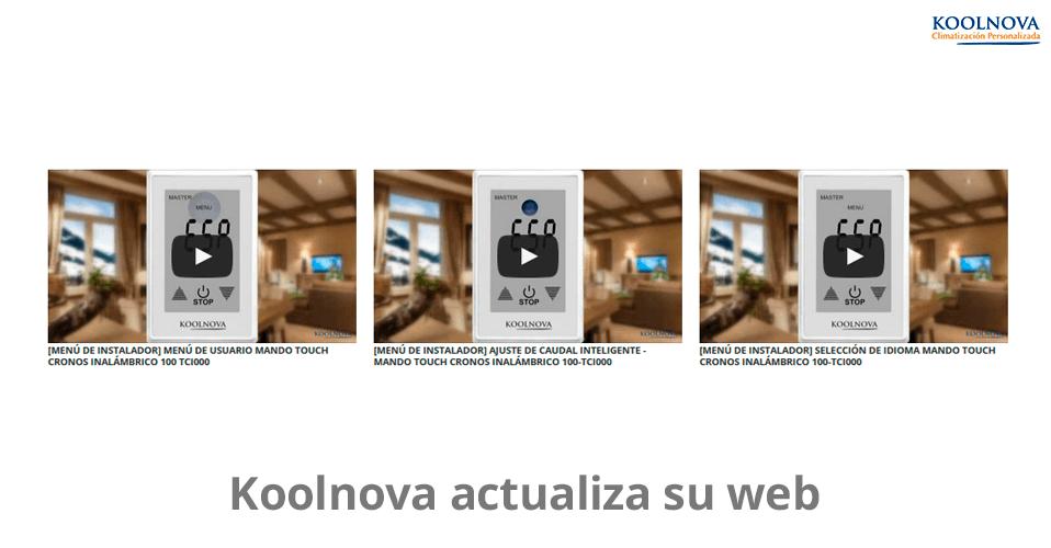 Koolnova actualiza su web