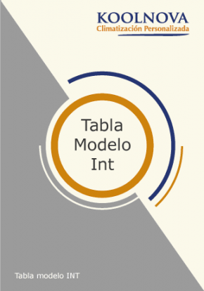 Tabla modelo INT Koolnova